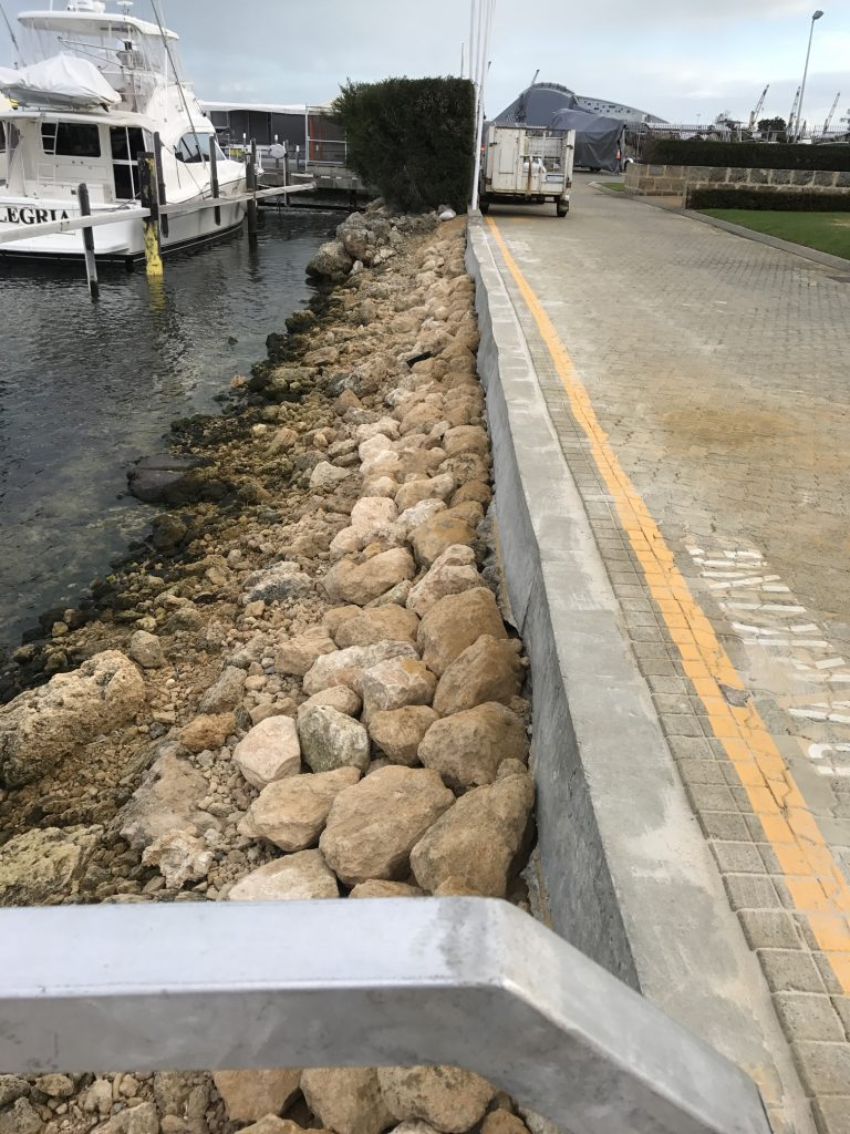 photo of fremantle port shore made of stone and concrete by Landscapes For Life